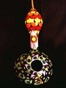 Gourds, Birdhouses, Hand Painted, Crafts